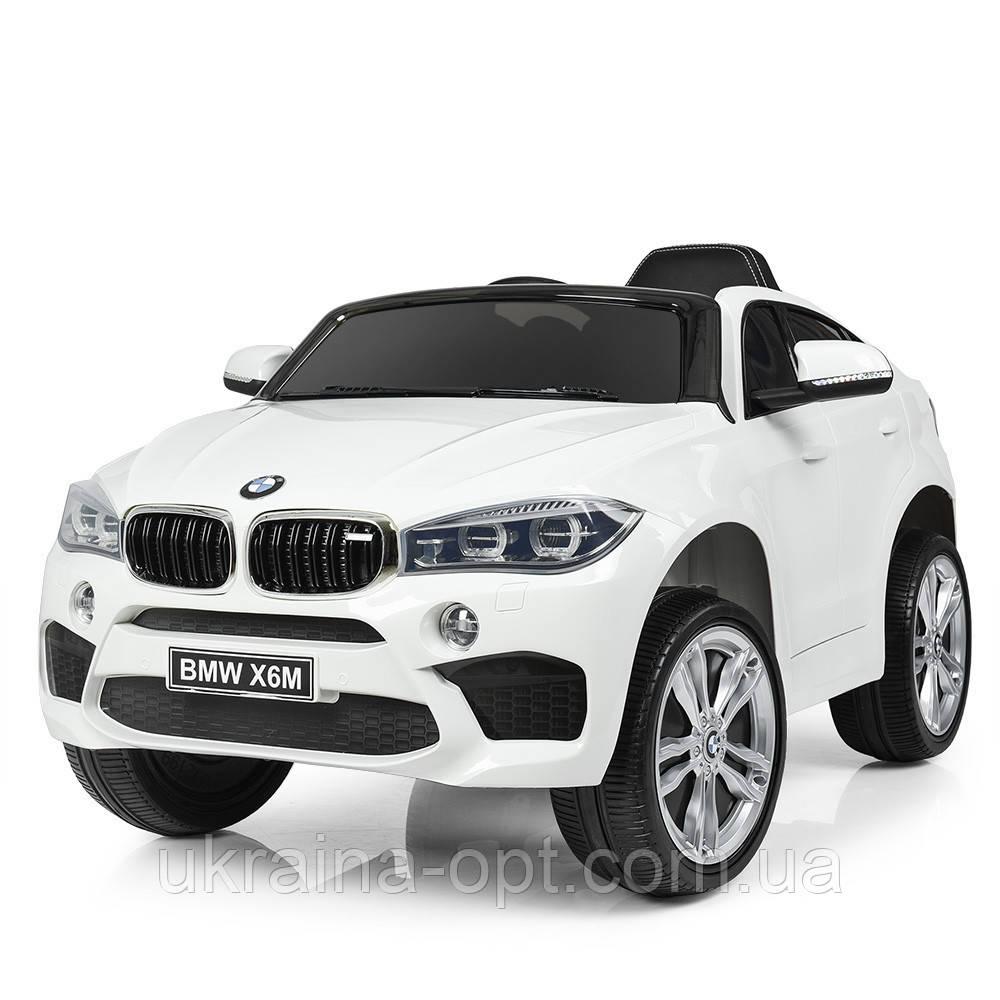 Детский электромобиль BMW X6M. Скорость: 3-5км\ч. Звуковые и световые эффекты. SD, USB. JJ2199EBLR-1