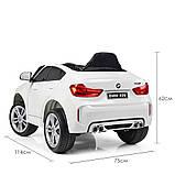 Детский электромобиль BMW X6M. Скорость: 3-5км\ч. Звуковые и световые эффекты. SD, USB. JJ2199EBLR-1, фото 3