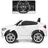 Детский электромобиль BMW X6M. Скорость: 3-5км\ч. Звуковые и световые эффекты. SD, USB. JJ2199EBLR-1, фото 5