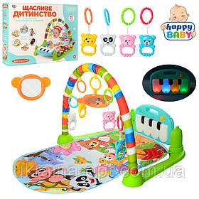 Детский игровой коврик. Подвесные игрушки. Звуковые и световые эффекты. LIMO TOY 698-55A
