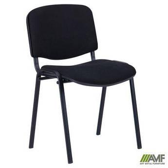 Офісний стілець Ізо чорний каркас/тканина А AMF