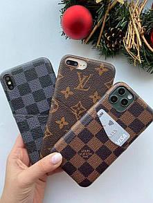Чехол кожаный Full Louis Vuitton для IPhone 7+/ 8+/ X/ Xs/ Xs Max/ 11/ 11 Pro Max/ 11 Pro