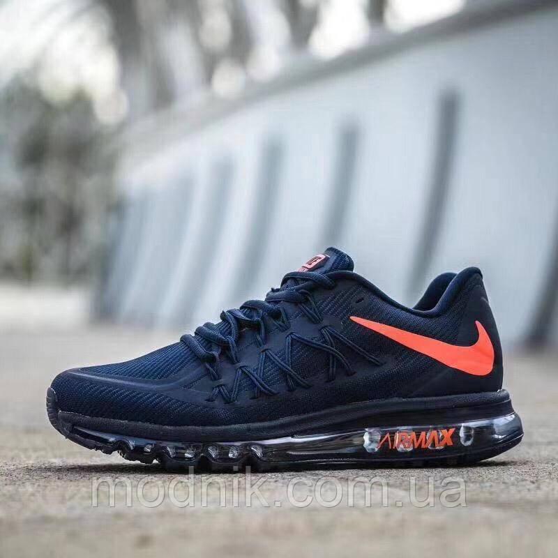Мужские кроссовки Nike Air Max 2015 (темно-синие)