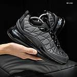Мужские кроссовки Air Max AM98720 (серые) - термо, фото 5