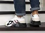Мужские кроссовки Adidas Streetball (бело-бордовые), фото 3