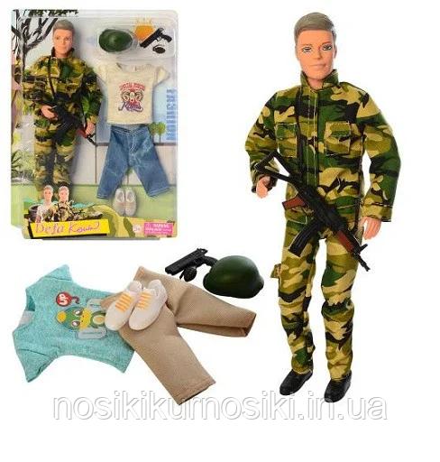 Лялька Defa Дефа 8412 Кен Військовий 30 см (шарнір, одяг, зброя)