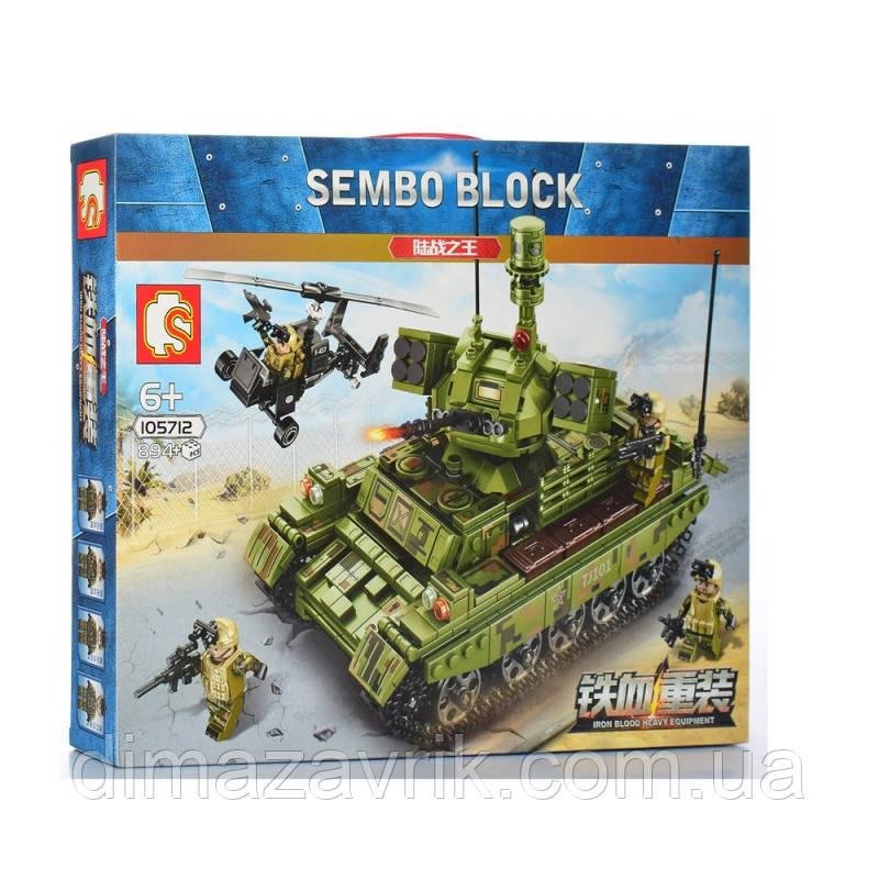 "Конструктор Sembo 105712 ""Танк""894 деталей"