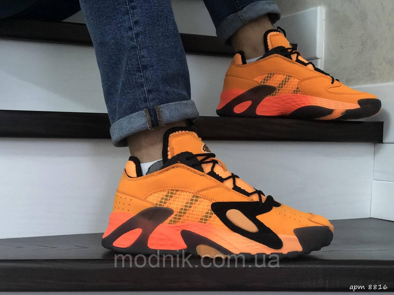 Мужские кроссовки Adidas Streetball (оранжевые)