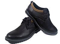 Туфли мужские натуральная кожа черные на шнуровке (Т-9)