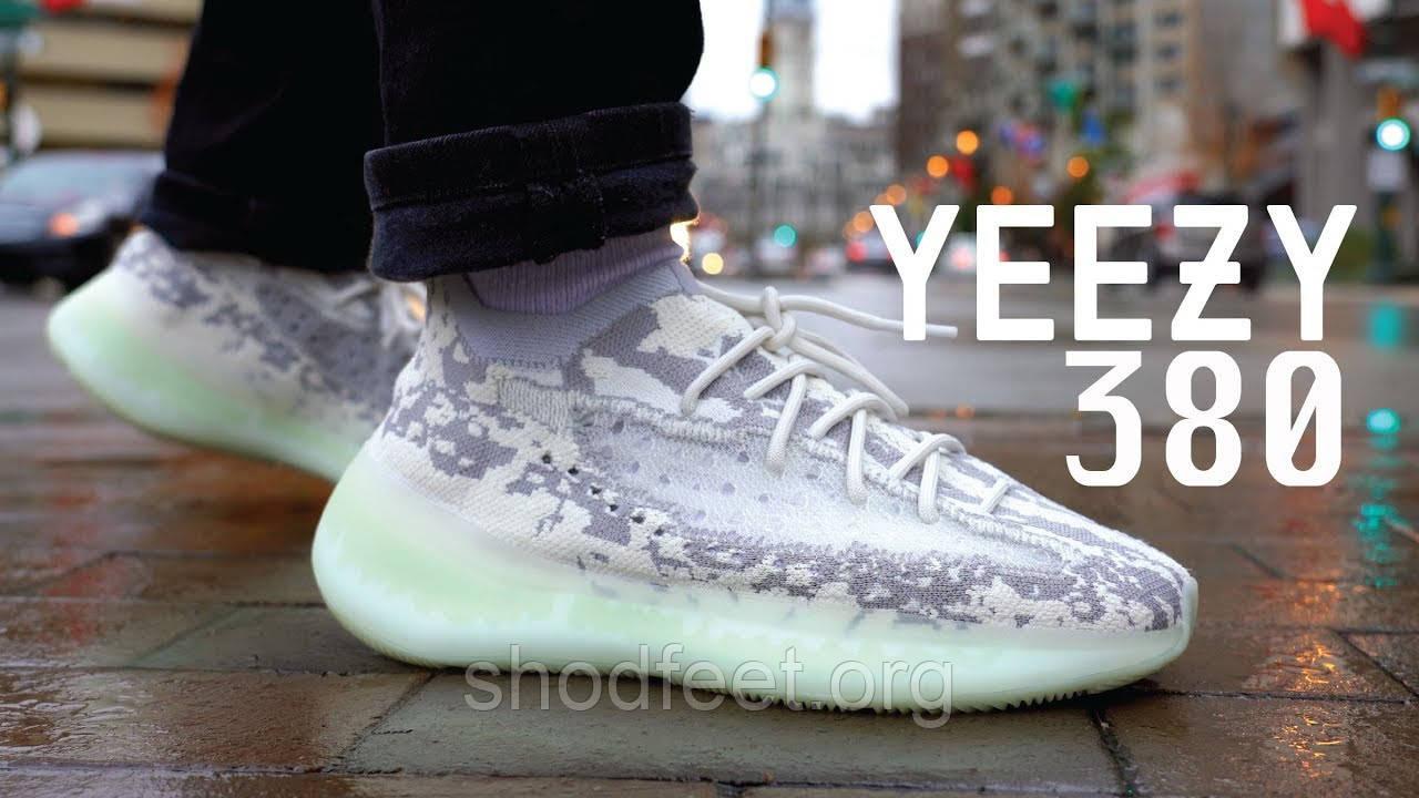 Мужские кроссовки Adidas Yeezy Boost 380 Alien