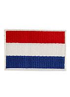 """Тканевая нашивка на одежду """"флаг Нидерландов"""" Milward 4,5х3,5см Красный, Белый, Синий"""