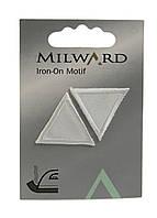 """Тканевые нашивки на одежду """"Ромбы""""(2шт) Milward 2,5х2,5см Белый"""