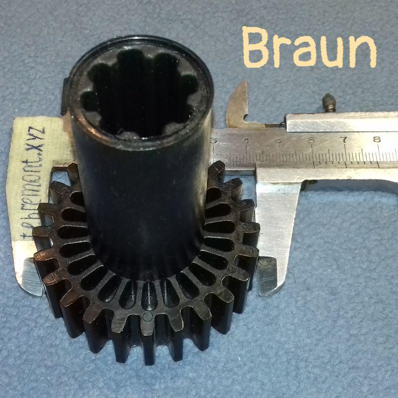 Шестерня (CL-07 / F-6) для мясорубки Braun 67051414 (D=60 d=30, H=78,5)