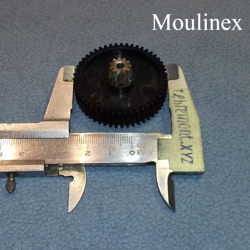Шестерня (CL-12A / F-12) для мясорубки Moulinex MS-5564244 (Z=50; z=11; D=46; d=11,5; H=22)