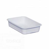 Лоток для пищевых продуктов белый № 2 Ал-пластик