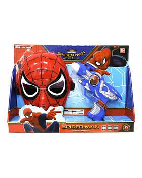 """Игровой набор """"Spider-Man"""" 530-F, маска+ муз. пистолет, свет на планшетке 35*24,5*7 см"""