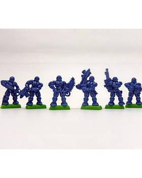 """Вергейм Набор Бронепехота """"Тяжела роботизированая пехота"""" без коробки (6 воинов/ цвет синий)"""