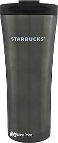 Металлическая термокружка Starbucks 450 мл 9225-450 Dark Silver (3110)