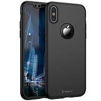Чехол iPaky 360 Apple iPhone X (+ стекло на экран) (Черный)