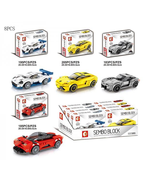 Конструктор Senco Sport Car 607025-28 183-205 дет, р-р 1 констр 25,5*18,8*5,5см, цена за 1 шт в дисп