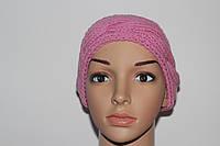 Вязаная шерстяная шапка-повязка на голову
