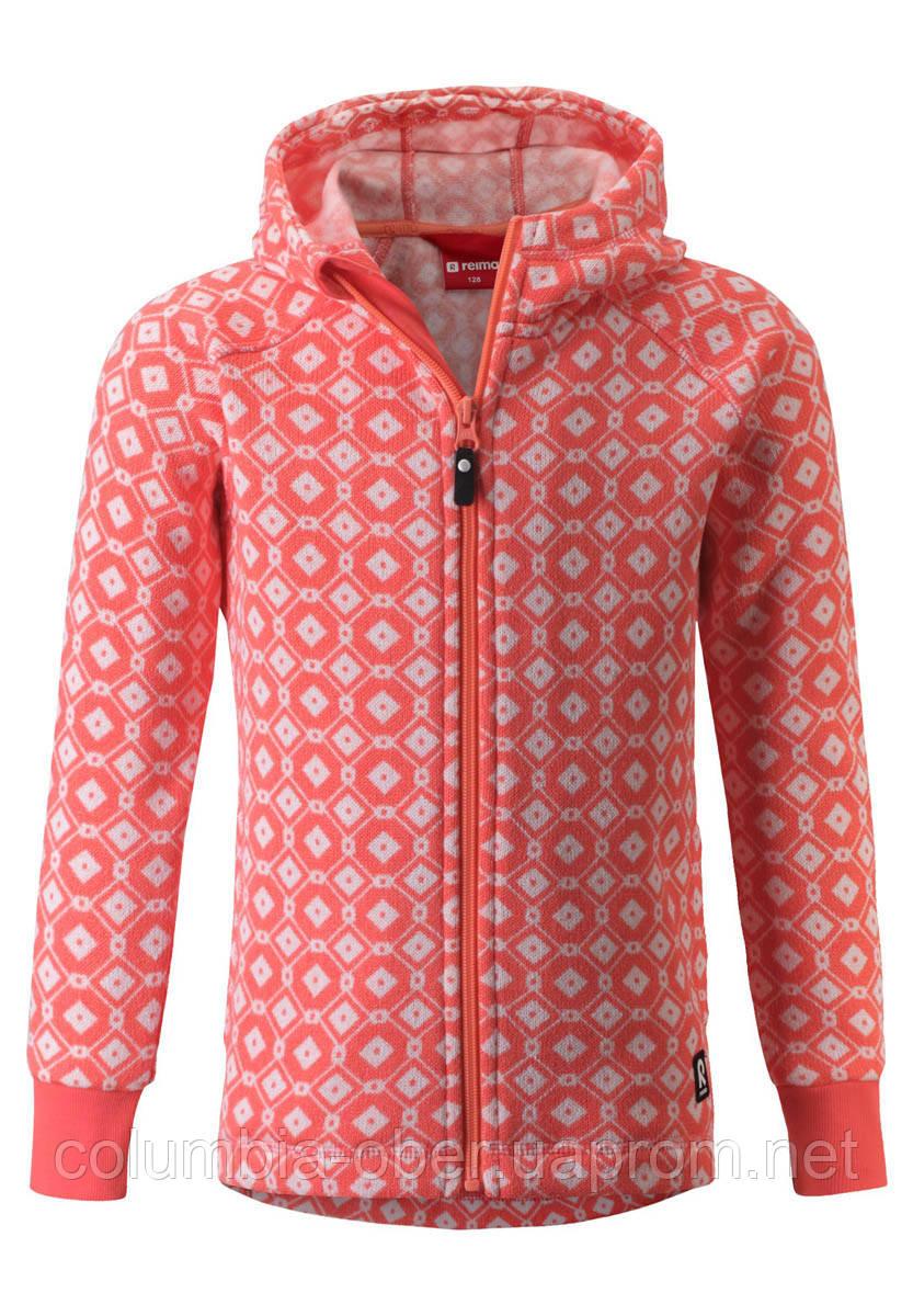 Флисовая кофта для девочки Reima Northern 536461-3227. Размеры 104 - 164.