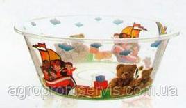 Миска прозрачная с рисунком №1 (4л.) Violet