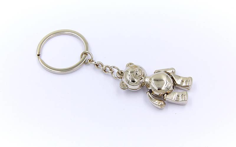 Брелок Мишка (металл, цена за 1шт) PZ-FB-3024