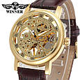 Winner Женские часы Winner Gold  Brown, фото 6