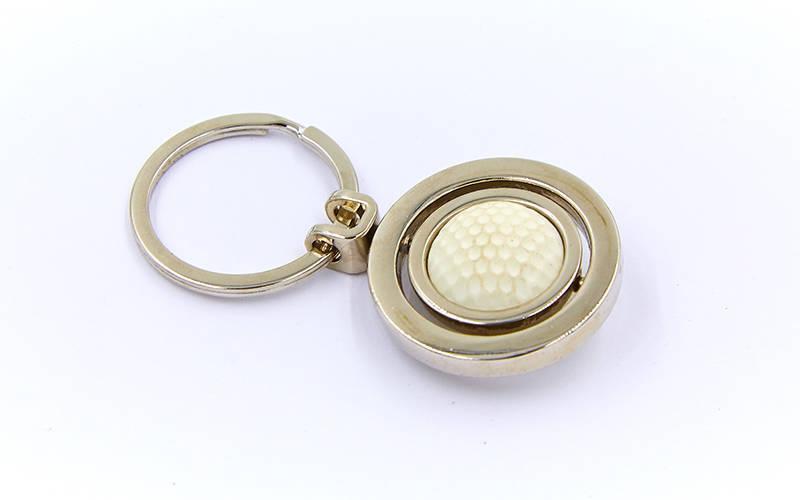 Брелок Мяч для гольфа (металл хром., цена за 1шт) PZ-FB-3340