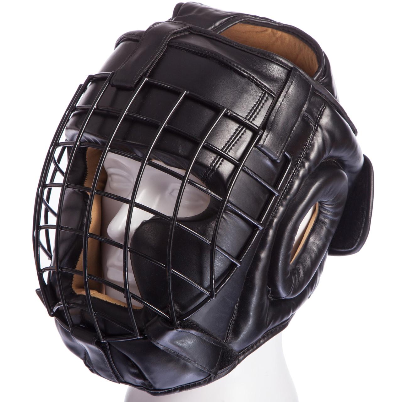 Шлем с металлической решеткой Everlast (М-XL) Черный M PZ-MA-0730_1