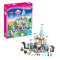 Конструктор для девочки - Большой замок принцессы Золушки, с садом и фигурками, JG305
