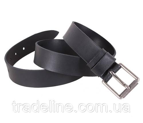 Мужской кожаный ремень Dovhani SP999-23497 120 см Черный, фото 2
