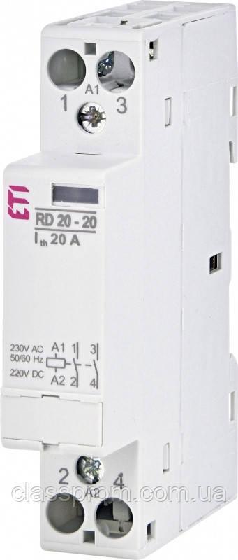 Контактор RD 20-20 (230V AC/DC) (AC1), ETI, 2464004