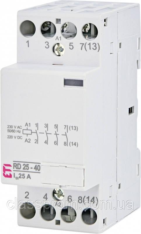 Контактор RD 25-40 (230V AC/DC) (AC1), ETI, 2464010