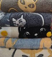 Плед микрофибра  180х200 Коты, фото 1
