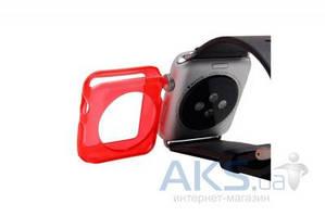 iBest чехол для Apple Watch 42mm TPU Case Solid Red
