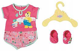 Пижама для куклы Беби Борн (бодик, кроксы, вешалка). Baby Born Zapf Creation 3+ (827437)