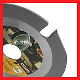 Пильный диск. 125х22х3. GRAFF. 3-х зубый для УШМ. Круг пильный на болгарку., фото 7