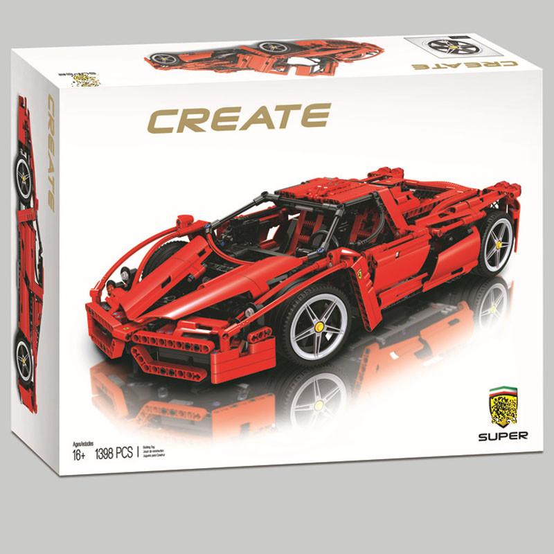 Конструктор 10571 Энцо Феррари Enzo Ferrari 1398 деталей