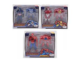 JD831-4-2 Фигурки для игры супергерой, 3 вида, муз., Свет, бат.