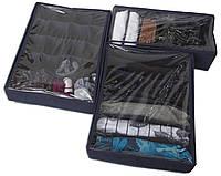Набор органайзеров для нижнего белья с крышками 3 шт Organize Jns003-Kr джинс R176221