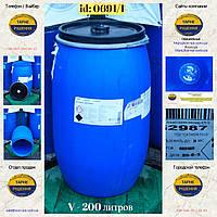 0691/1: Бочка (200 л.) б/у пластиковая ✦ Алкилполигликозид, фото 1