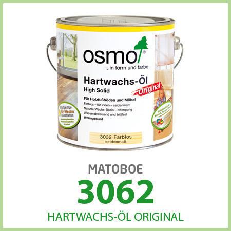 Паркетное масло Osmo Hartwachs-Öl Original 3062 матовое 0,375 л