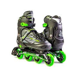 Ролики Scale Sports. Adult Skates. XL LF 935 Green 41-44