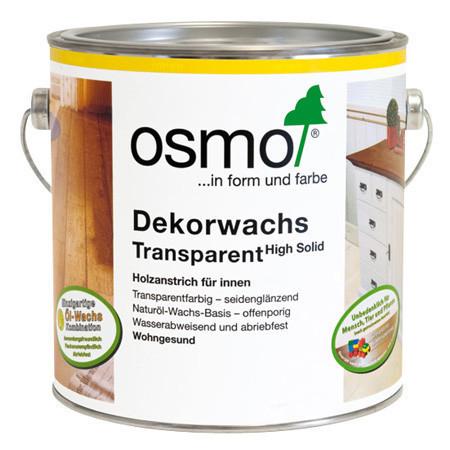 Универсальное цветное масло Osmo Dekorwachs Transparent 3102 бук дымчатый 0,125 л