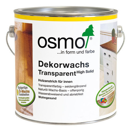 Универсальное цветное масло Osmo Dekorwachs Transparent 3111 белое 0,125 л