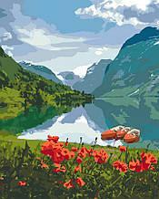"""КНО2256 Набор для росписи по номерам. """"Красота Норвегии"""" 40*50см"""