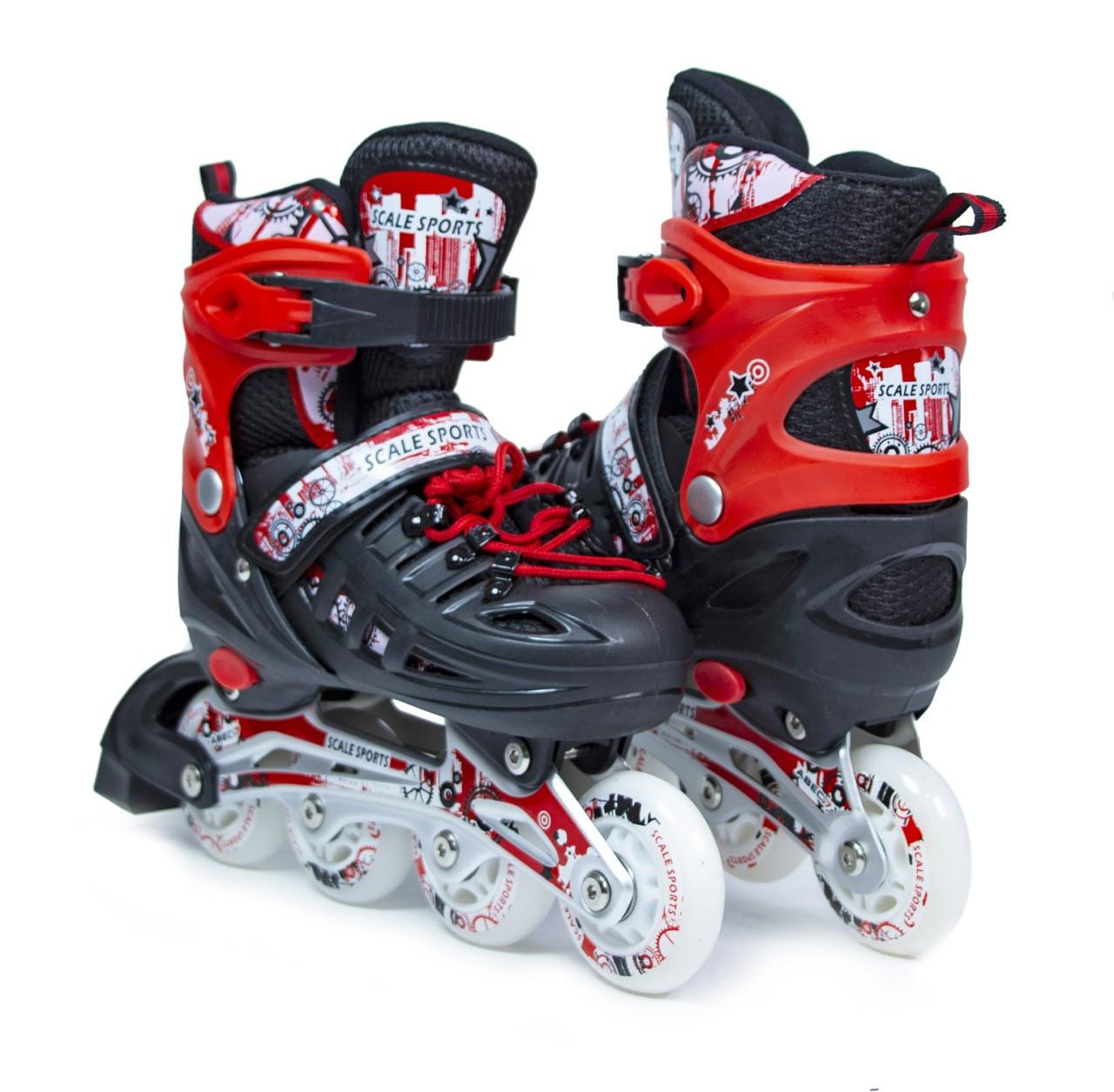 Ролики Scale Sports Red LF 905, розмір 34-37