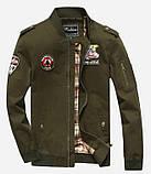 Fighting Falcon original 100% хлопок мужская милитари куртка ветровка, фото 4